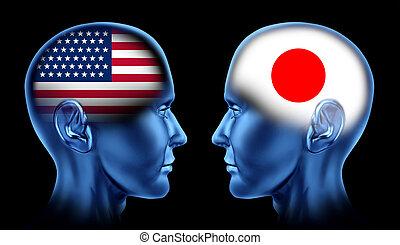 handel, samenwerking, japan, u. s. een