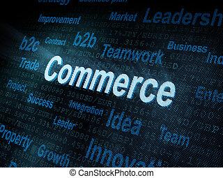 handel, schirm, pixeled, wort, digital