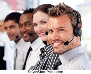handel team, op het werk