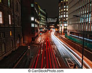handel, w, londyn, w nocy