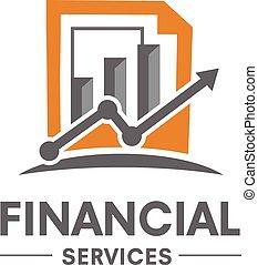 handel, wektor, finansowy, logo