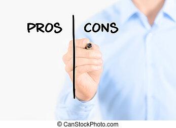 handelaar geschrift, pros, en, cons