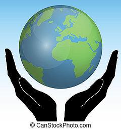 handen, aarde