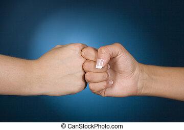 handen, competitie, tonen