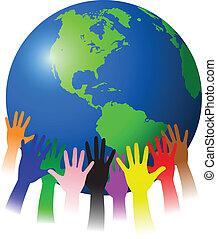 handen, en, globe