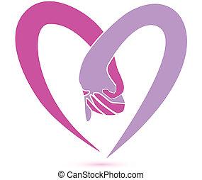 handen samen, logo