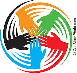 handen, teamwork, pictogram