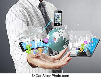 handen, technologie