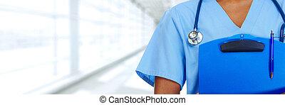 handen, van, medisch, arts.