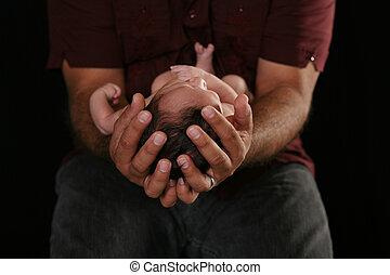 handen, van, veiligheid