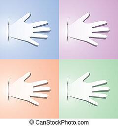 handen, vector