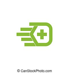 handfläche, sorgfalt, symbol, vektor, plus, logo, daheim, medizin, hand
