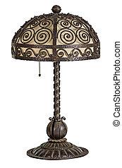 handforged, antik, kunst nouveau, lampe tabel