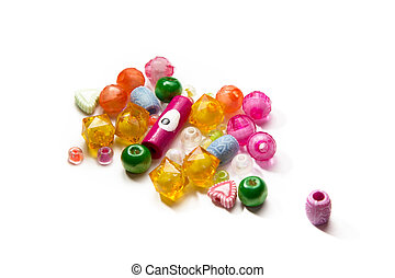 handful of beads isolated