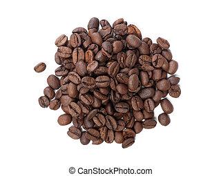 Handful of coffee beans