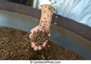 handful of coffee beans