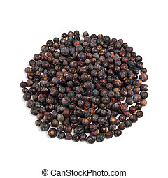 Juniper berries - Handful of Juniper berries isolated on...