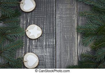 Wenig Holz Baum Weihnachten