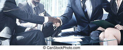 handgeben, versammlung, geschäftsmenschen