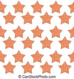 handgjord, flätverk, stjärna, skissera, wireframe, stjärna, dekoration, seamless, mönster