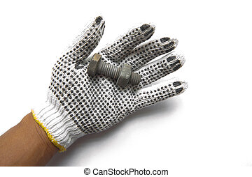 handgloves, noce, acciaio, b, formica, bianco