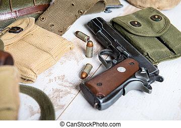 handgun M1911 government with ammo - a handgun M1911...
