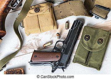 handgun M1911 government with ammo - handgun M1911...