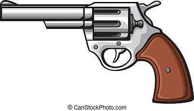 handgun-old revolver - handgun (pistol vector, pistol gun,...