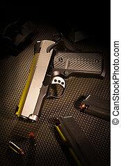 Handgun - Semi automatic handgun with ammunition and...