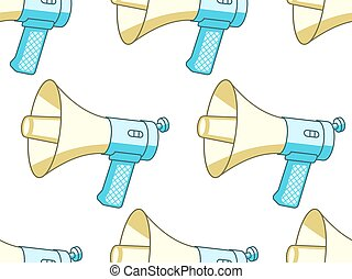 Handheld megaphone pattern - Seamless pattern of the...