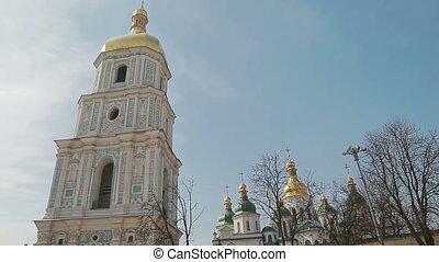 Handheld shot of Saint Sophia Cathedral