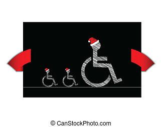 handicapé, bannière, conception, spécial