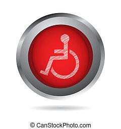handicapé, conception, spécial, icône