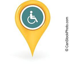 handicapé, emplacement