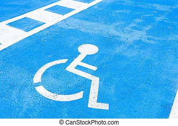 handicapé, endroit, réservé, gens