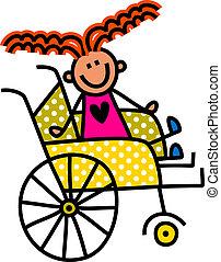 handicapé, girl