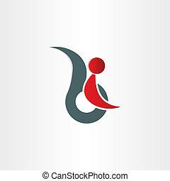 handicapé, handicap, symbole, homme