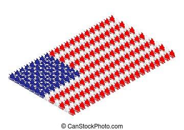 handicapé, isométrique, concept, pictogramme, national, editable, isolé, illustration, etats, fond, forme, uni, conception, coup, drapeau, blanc, homme, rang, fauteuil roulant, icône