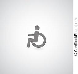 handicapé, symbole