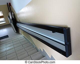 handicap ascenseur fauteuil roulant backing fauteuil photos de stock rechercher des. Black Bedroom Furniture Sets. Home Design Ideas