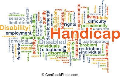 Handicap background concept