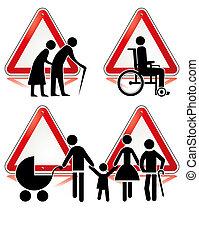handicap, collection, signes