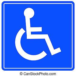 handicap, het teken van het parkeren
