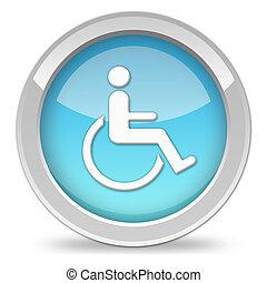 handicap, het tonen, pictogram, mensen