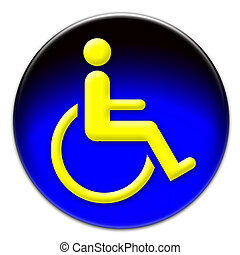 Handicap icon button