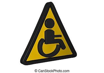 handicap, lavatory, ikon