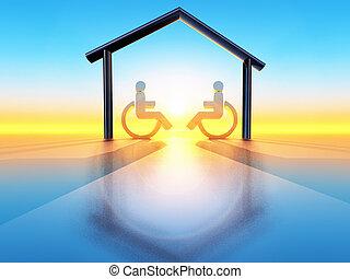 handicap, maison