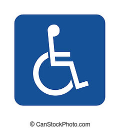Handicap or wheelchair person symbol