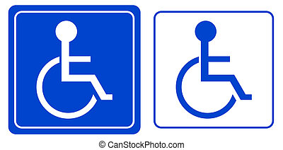 handicap or wheelchair person symbol, vector