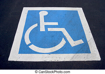 Handicap Parking Spot - The familiar handicaped icon,...